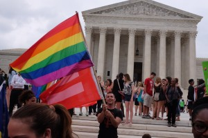 Hundreds gather outside US Supreme Court after marriage equality ruling