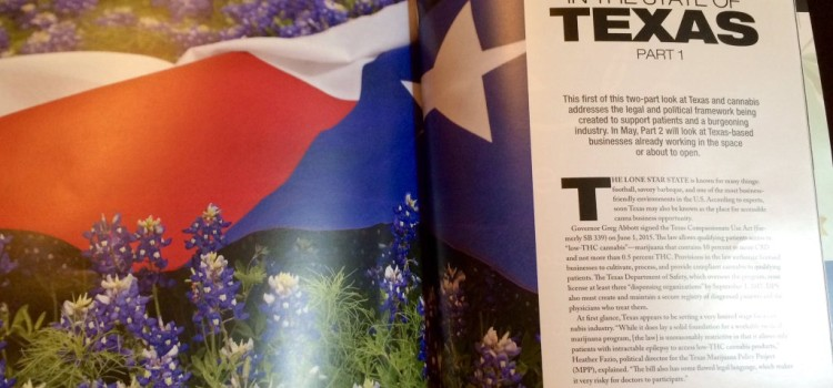 The State of Weed in the State of Texas — New Piece in mg