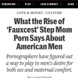 Sex, Maternal Comfort, and Fauxcest (Commentary for Fatherly)